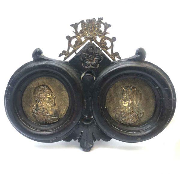 Coppia di Medaglioni in Bronzo Dorato