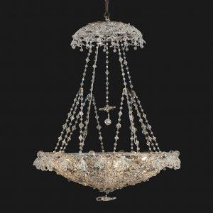 lampadario in perline di cristallo q