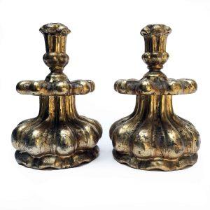 coppia-candelieri antichi dorati a mecca