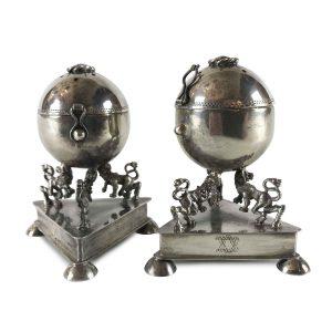 coppia di besamin in argento