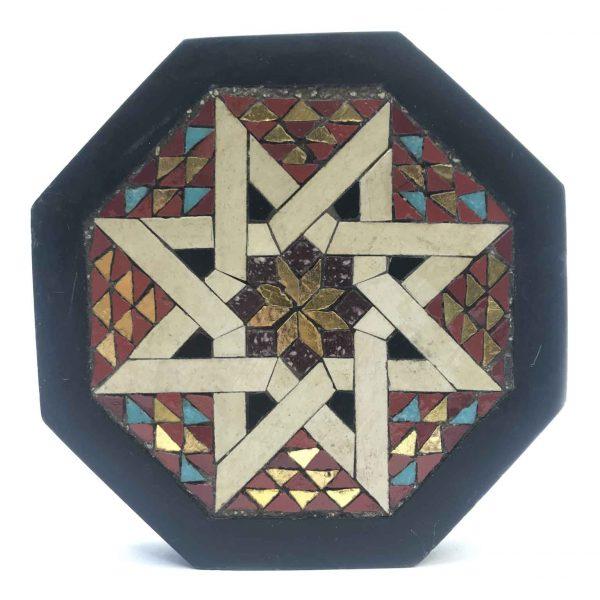 Fermacarte Ottagonale con Tarsie Geometriche