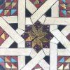 fermacarte ottagonale con tarsie geometriche a