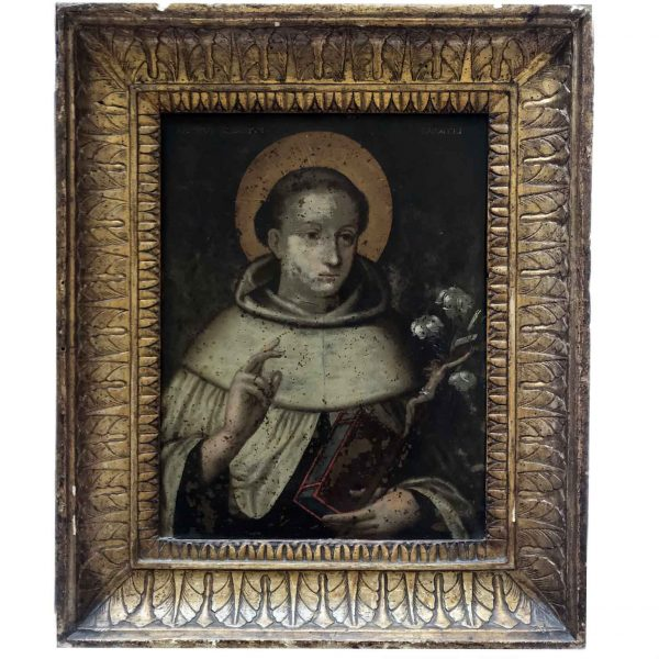 19th Century Italian St Albert of Trapani Portrait on Copper