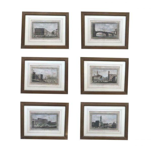 Serie di Sei Vedute di Firenze del 1800
