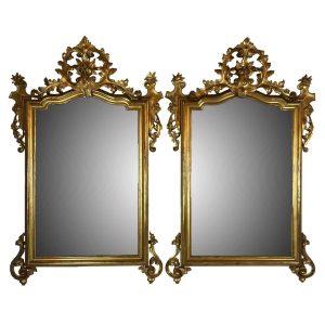 coppia di specchiere dorate luigi filipo