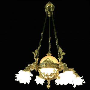 lampadario francese in bronzo