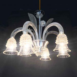 lampadario in vetro rostrato barovier