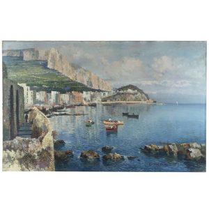 fausto pratella paesaggio costiero napoli 1920