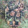 acquasantiera legno policromo marche XVIII secolo g