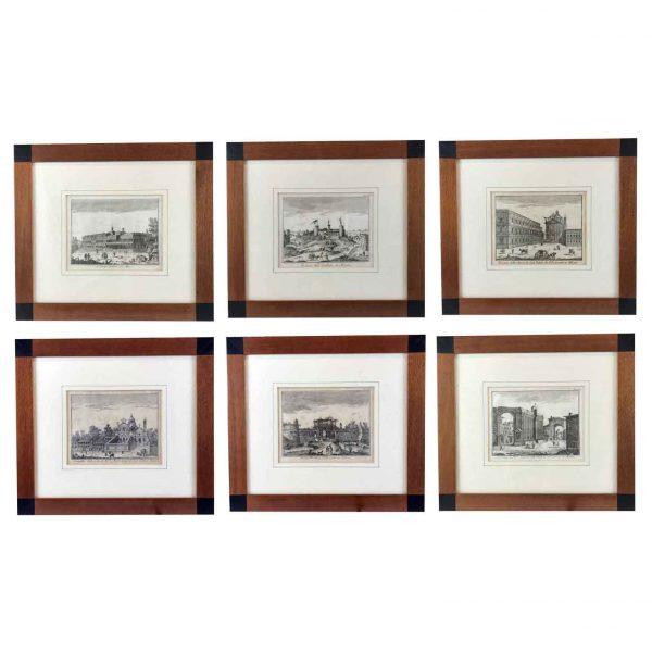 Set of Six Views of Milan Original Etchings Salmon Thomas 1751