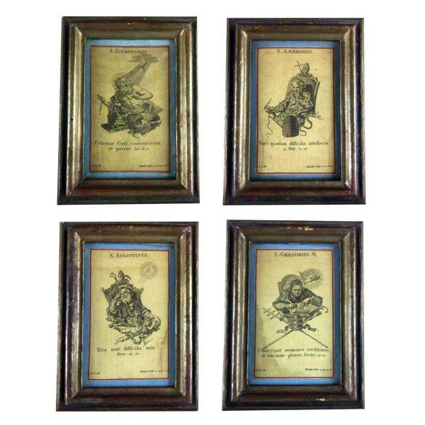 Quattro Cornici con Incisioni Klauber 1700