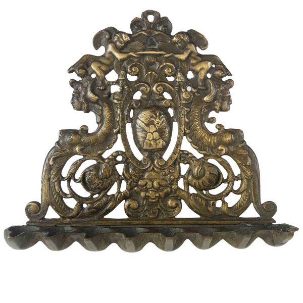 17th century Italian Cast Bronze Hanukkah Lamp Menorah