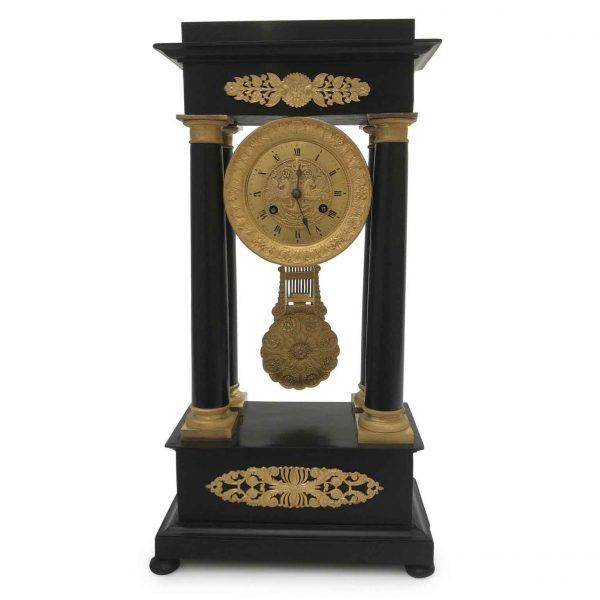 Orologio da Tavolo Francese a Portico Prima Metà 1800