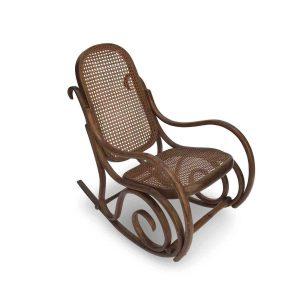sedia dondolo da bambino stile thonet