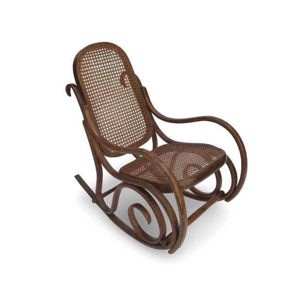 20th Century Thonet Style Bentwood Child Rocking Chair