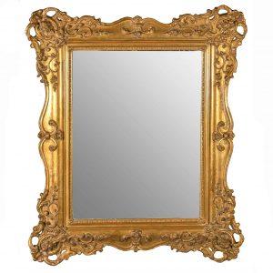 specchiera dorata antica francese q