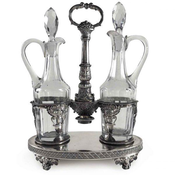 Early 19th Century French Paris Silver Oil and Vinegar Cruet Set