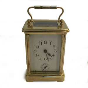 officier travel clock with case
