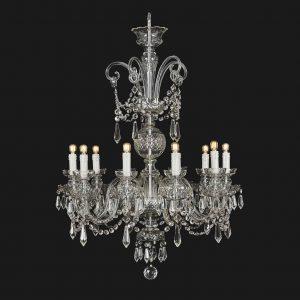 lampadario da soggiorno arredamento classico in cristallo di boemia