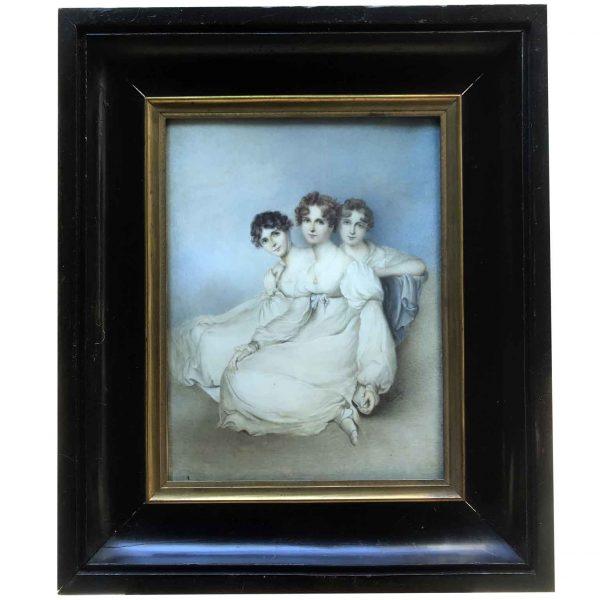 Ritratto di Tre Fanciulle firmato Romley 1800