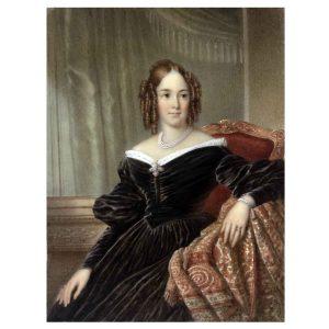 miniature of a gentlewoman