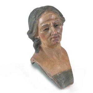 testa di statuina da presepe napoletano 1700