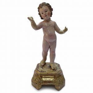 bambin gesù in terracotta