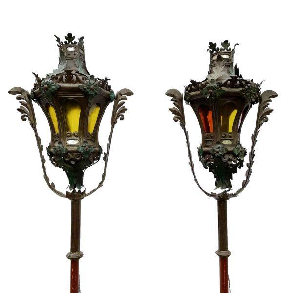 Coppia di Lanterne da Gondola  Veneziane 1800