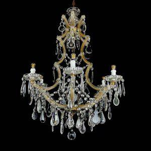 lampadario maria teresa in cristallo restaurato