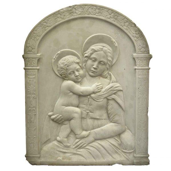 Madonna con Bambino in Marmo Bianco