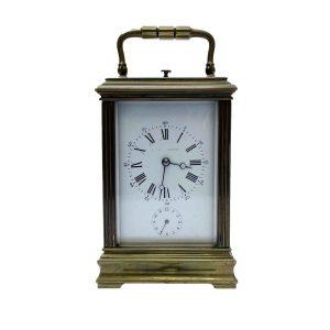 sveglia da scrivania in ottone funzionante del 1800