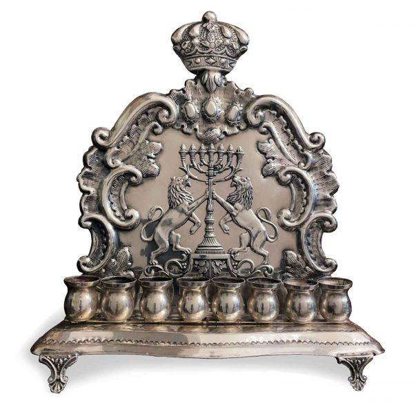Lampada Ebraica Hannukkah in Argento